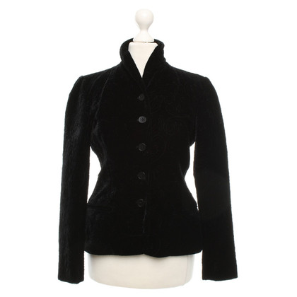 Ralph Lauren Velvet blazer in zwart