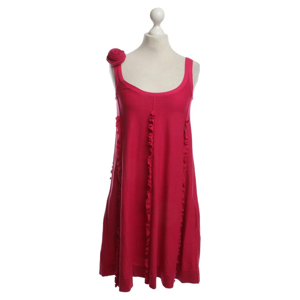Sonia Rykiel For H&M Cotton Dress In Fuchsia
