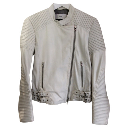 Closed Leather Jacket in White