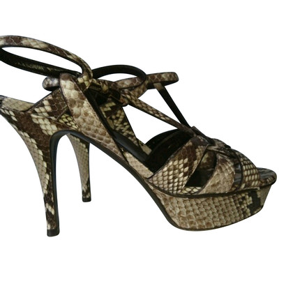 Yves Saint Laurent Sandals made of python leather