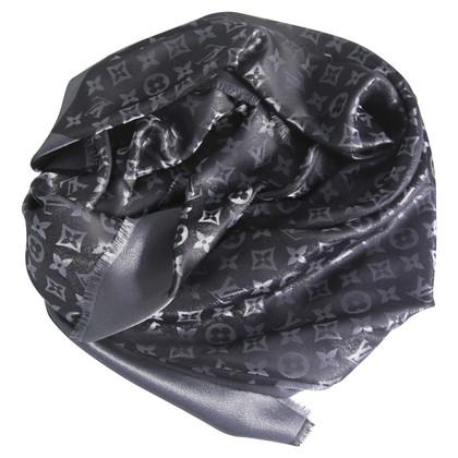 Louis Vuitton Monogram-Shine-Tuch in Schwarz/Silber