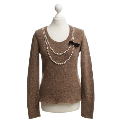 Moschino Cheap and Chic Pull avec garniture de sequins