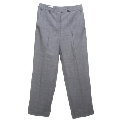 René Lezard pantaloni di lana tosati in grigio