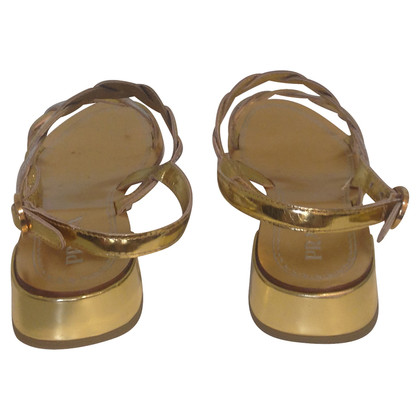 Prada Sandals in gold/silver