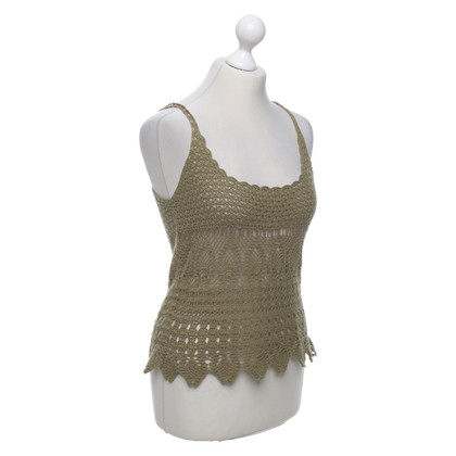 Max Mara Crocheted lace halter top