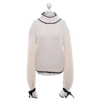 J.W. Anderson Chunky knit pullover with long sleeves