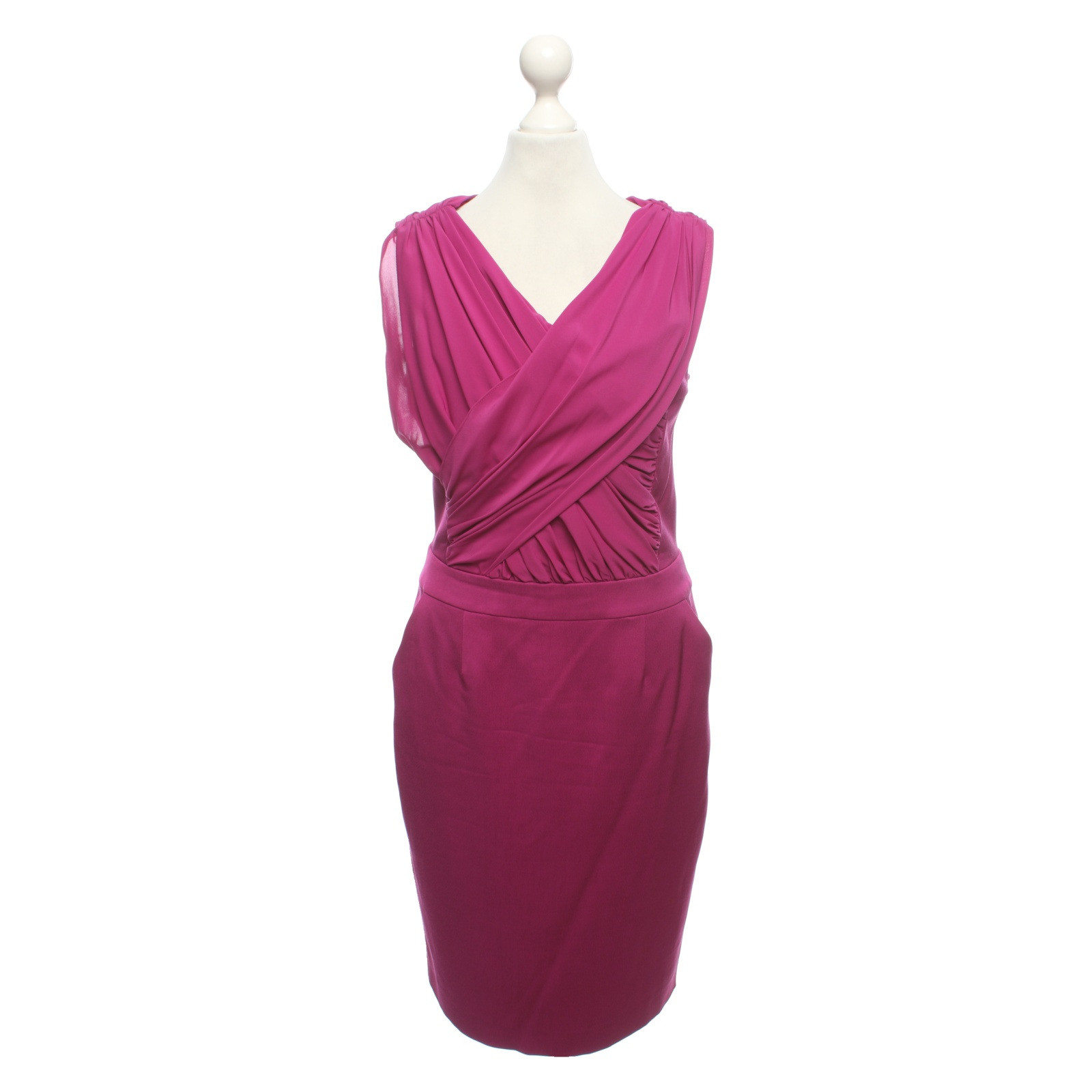 Reiss Kleid in Fuchsia - Second Hand Reiss Kleid in Fuchsia