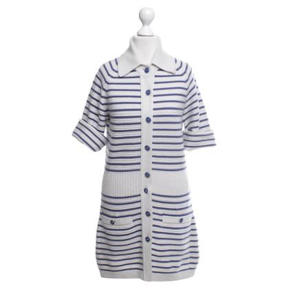 Chanel abito Cashmere in Grigio / Blu