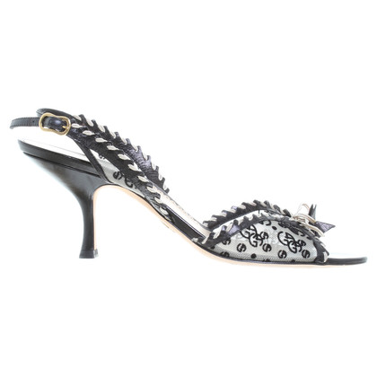 Giorgio Armani Sandals in black / white
