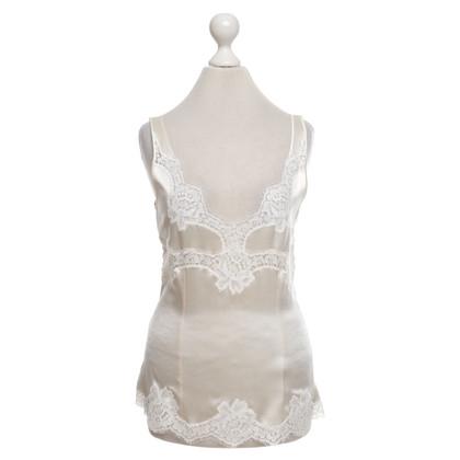 Dolce & Gabbana Lace top in creamy white