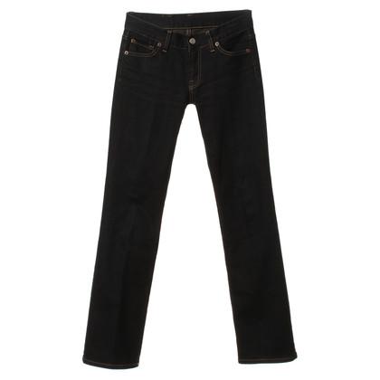 Y-3 Jeans svasati in blu scuro