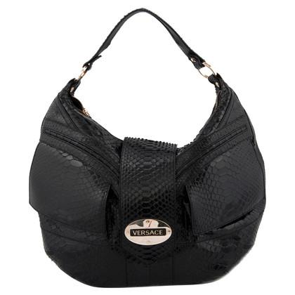 Versace Python leather handbag