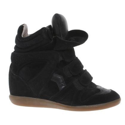 Isabel Marant Sneaker-Wedges in zwart