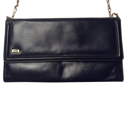 Christian Dior Vintage marineblauw clutch tas