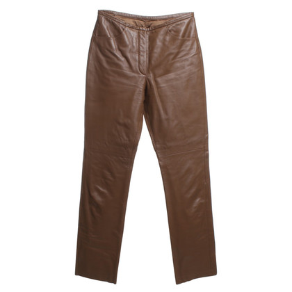 Hugo Boss Pantaloni di pelle in marrone