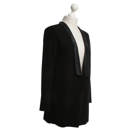René Lezard Cardigan in Black