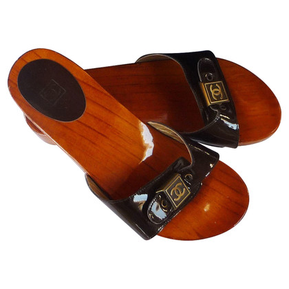 Chanel Chanel wooden clogs mules