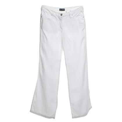 Armani Leinenhose in Weiß
