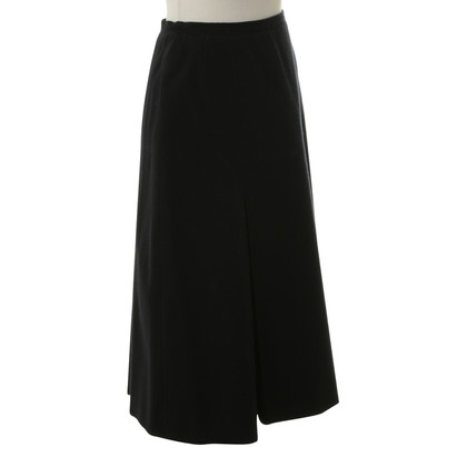 Hermès Wool skirt in black