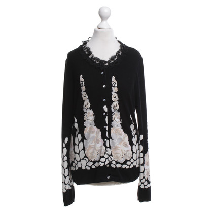 Blumarine Cardigan with floral pattern
