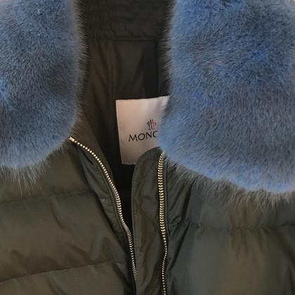 Moncler Parka con collo in visone