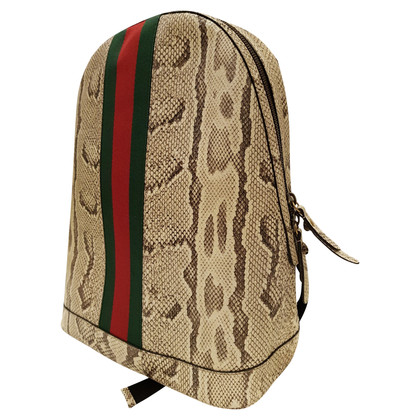 Gucci Python leather backpack