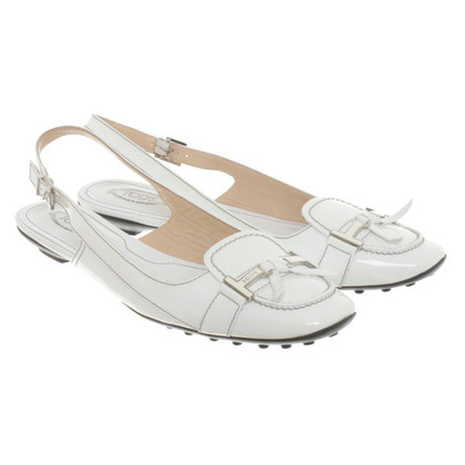 Tod's Slingback-Loafer in Weiß