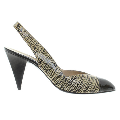 Sergio Rossi pumps with lacquer stripes