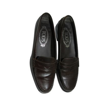 Tod's Brown leather slipper