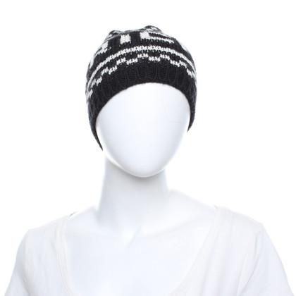 Richmond Mütze in Schwarz/Weiß
