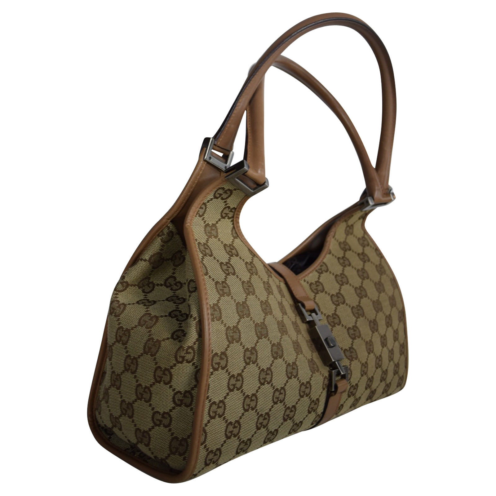 Gucci Jackie O Bag Leather In Brown