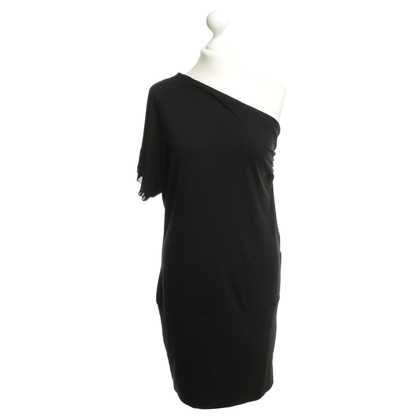 Twin-Set Simona Barbieri Asymmetrisches Kleid in Schwarz