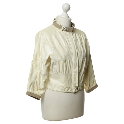 Brunello Cucinelli Leather Blouson in cream