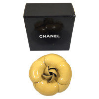 Chanel Camellia brooch patent leather
