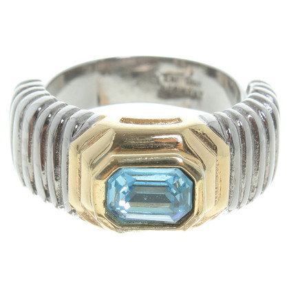 Christian Dior Ring met blauwe steen