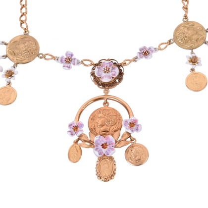 Dolce & Gabbana Coins and flowers necklace