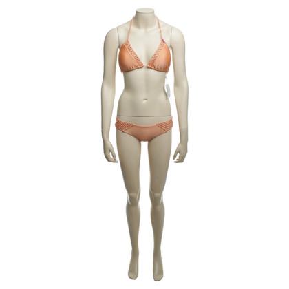 Luli Fama Bikini in Pfirsich