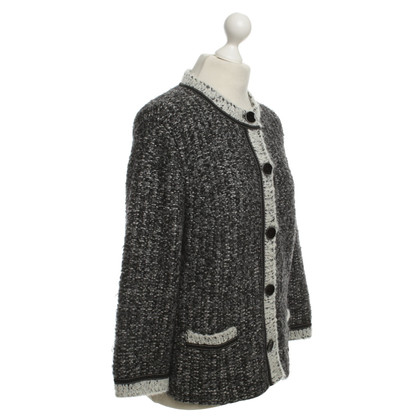 Marc Cain Strickjacke in meliertem Grau