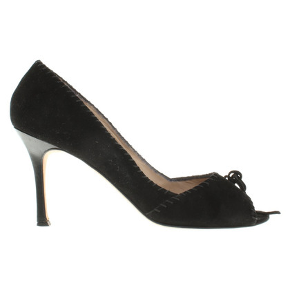 Manolo Blahnik Peep-toes in black