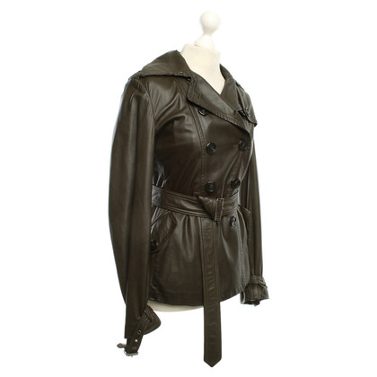 Burberry Giacca in pelle di design trench