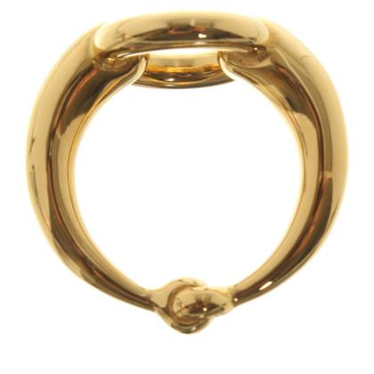 Hermès Gold colored cloth ring