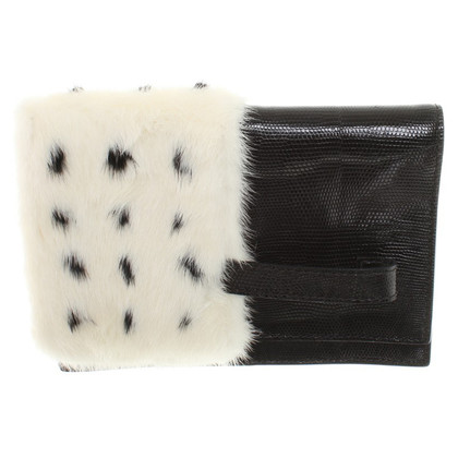 Valentino clutch with mink