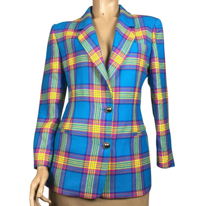 Piu & Piu Checkered wool Blazer