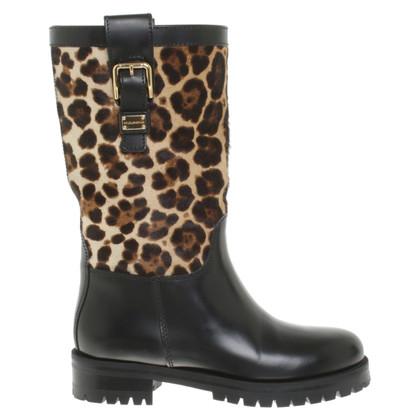 Dolce & Gabbana Biker-Boots in Schwarz