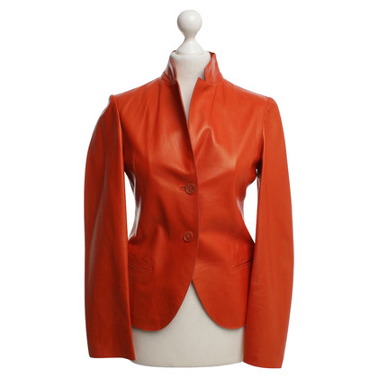 Jil Sander Lederjacke in Orange