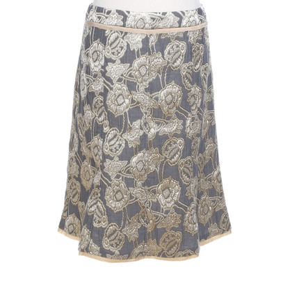 Schumacher skirt with gold-colored ornaments