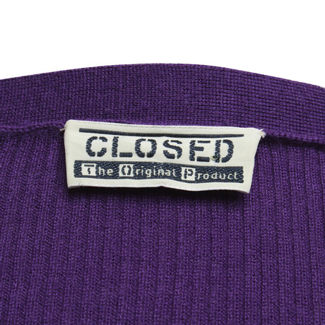 Closed Wickel-Strickjacke in Violett Violett Bester Großhandel Zu Verkaufen Orange 100% Original Verkauf Authentisch do9Mt4pID