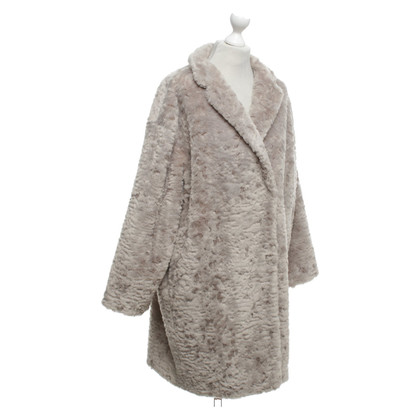 Marc Cain Faux fur jacket in grey
