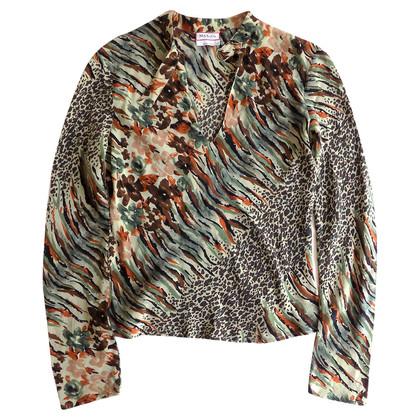 Max & Co Floral zijden shirt