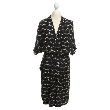 Odeeh Robe en soie avec motif